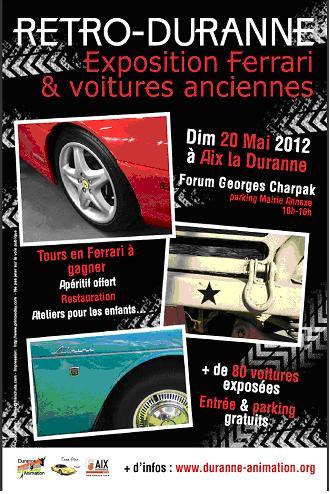 Retro-Duranne, dimanche 20 mai 2012 à Aix-La Duranne: affiche